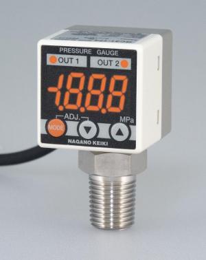 長野計器小型デジタル圧力計GC31即納出来ます。